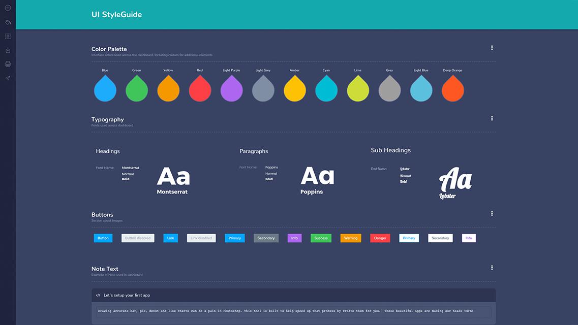 MockFlow StyleGuide , Create design guidelines and UI